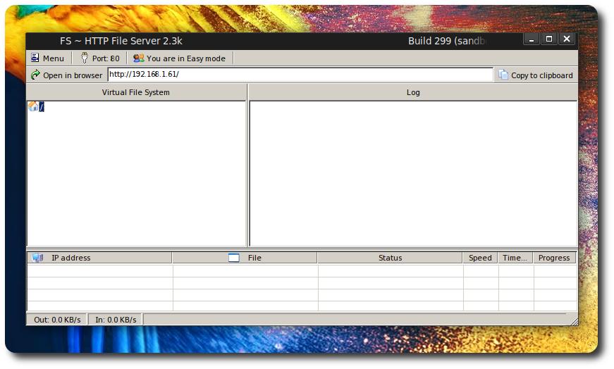 HFS Http File Server su Debian Kali Parrot