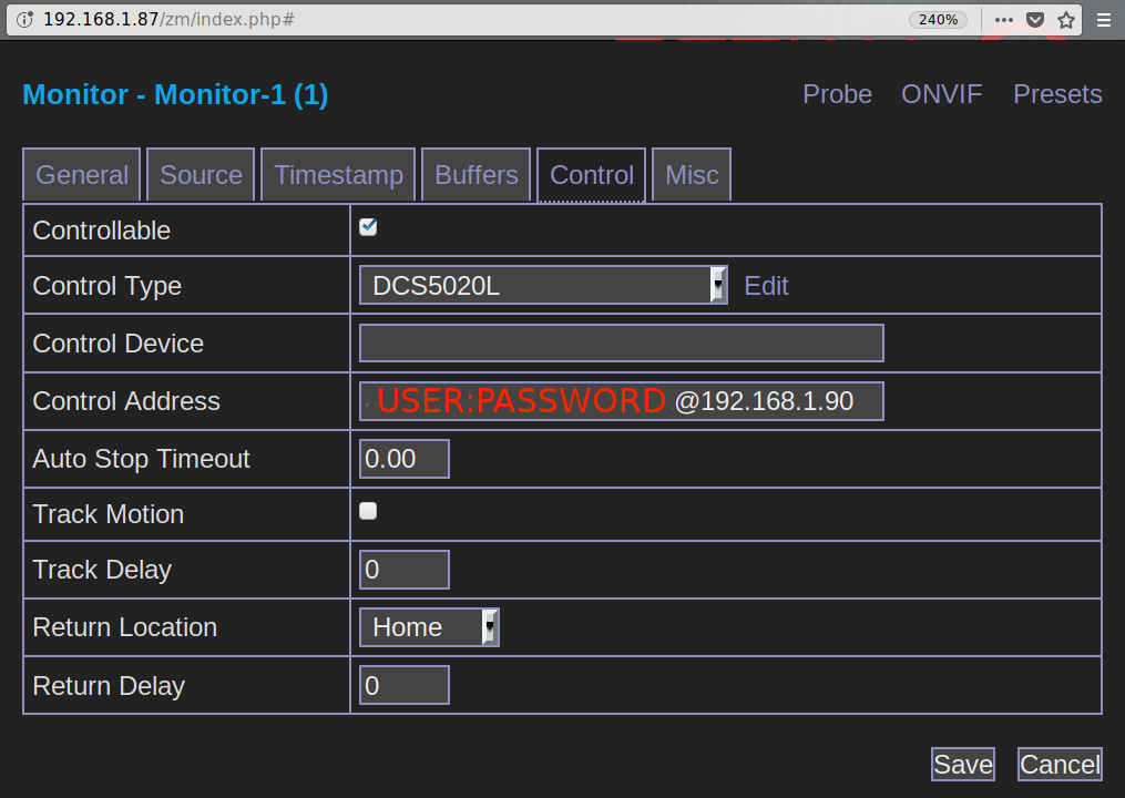 D-Link 5020L e ZoneMinder