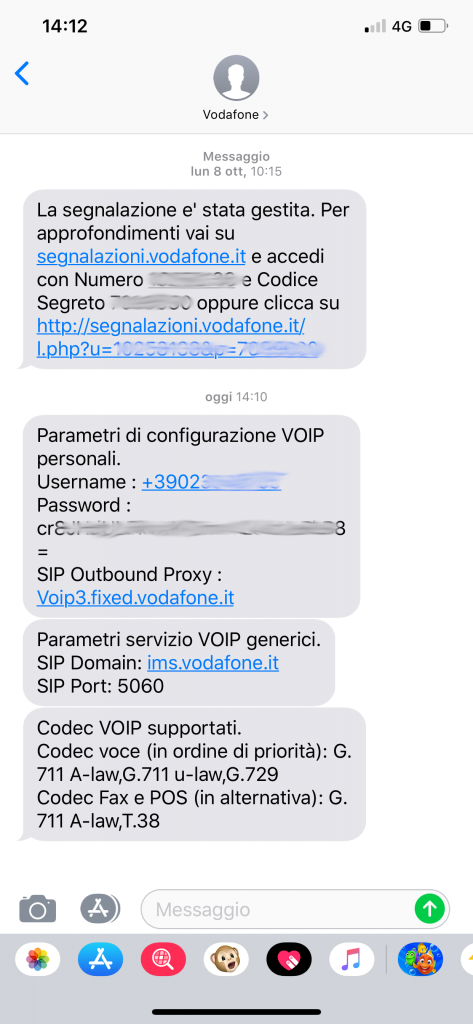 Configurare Zoiper con credenziali Voip Vodafone