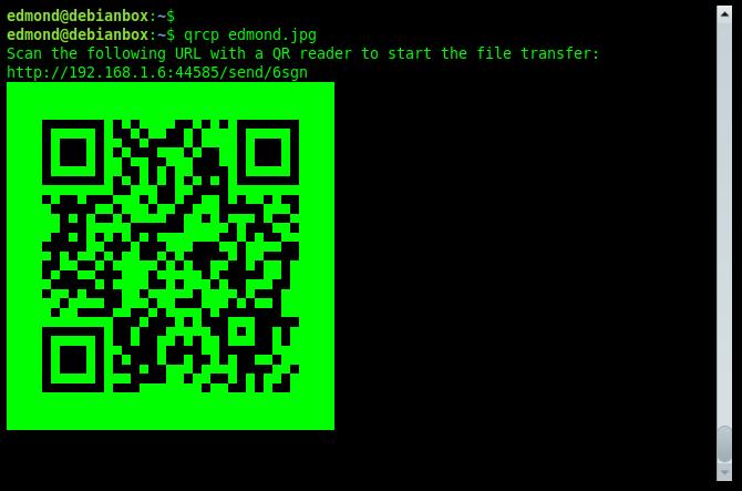Trasferire files tra PC e telefono con codice QR